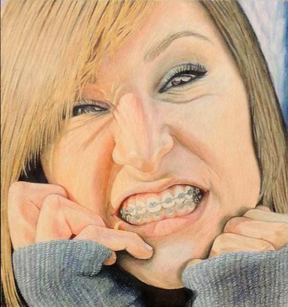 Honorable Mention | Mary Yaklin | LIFE OF A BRACE FACE | colored pencil | Miami Valley CTC | Grade 12