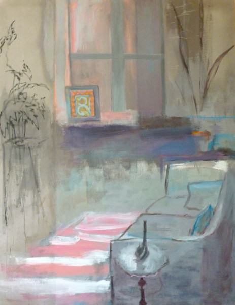 Larry Shineman | SUNROOM | 72 x 56 | acrylic on canvas