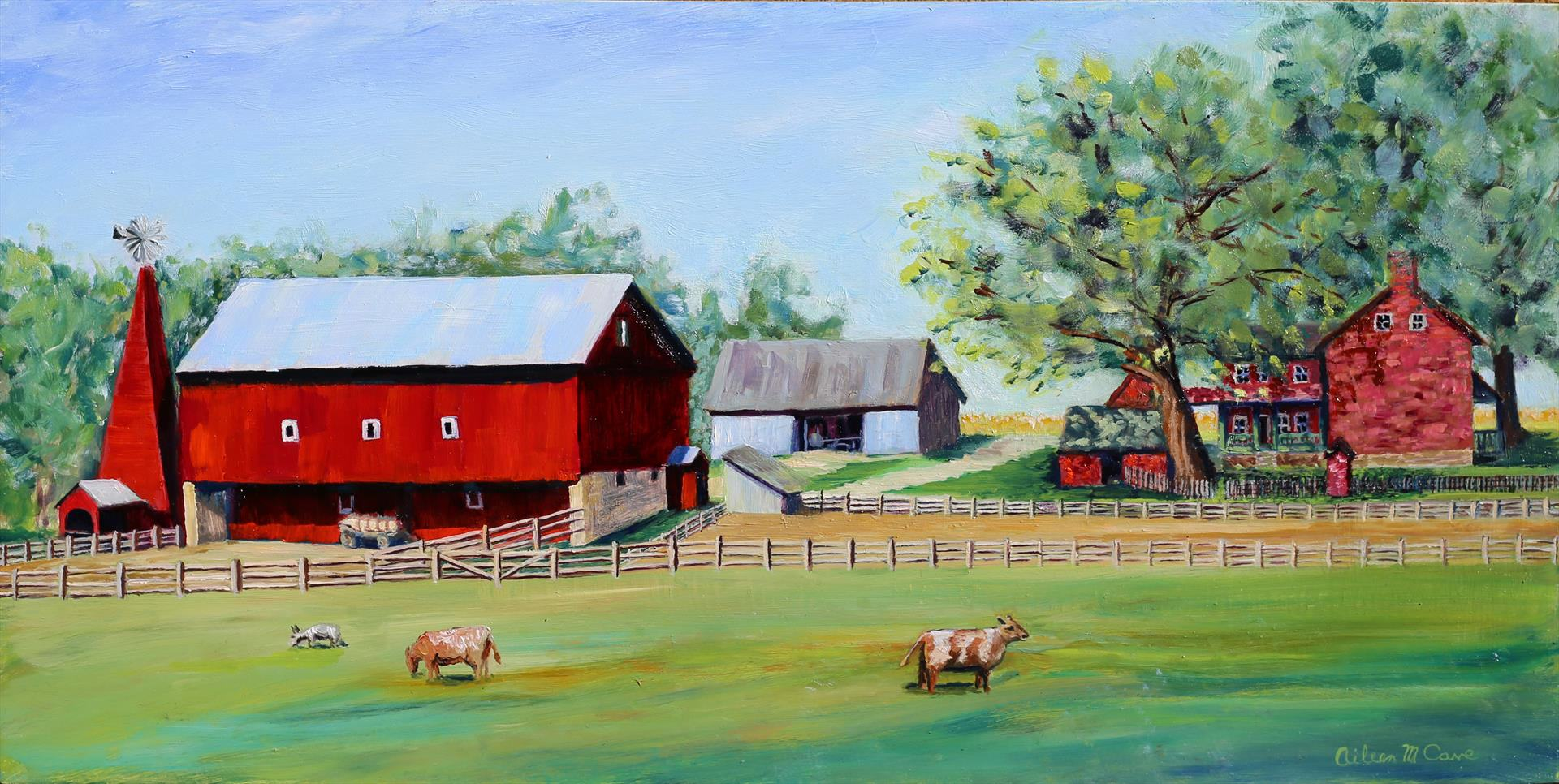 Aileen Cave | CARRIAGE HILL HOMESTEAD | oil | 12 x 24