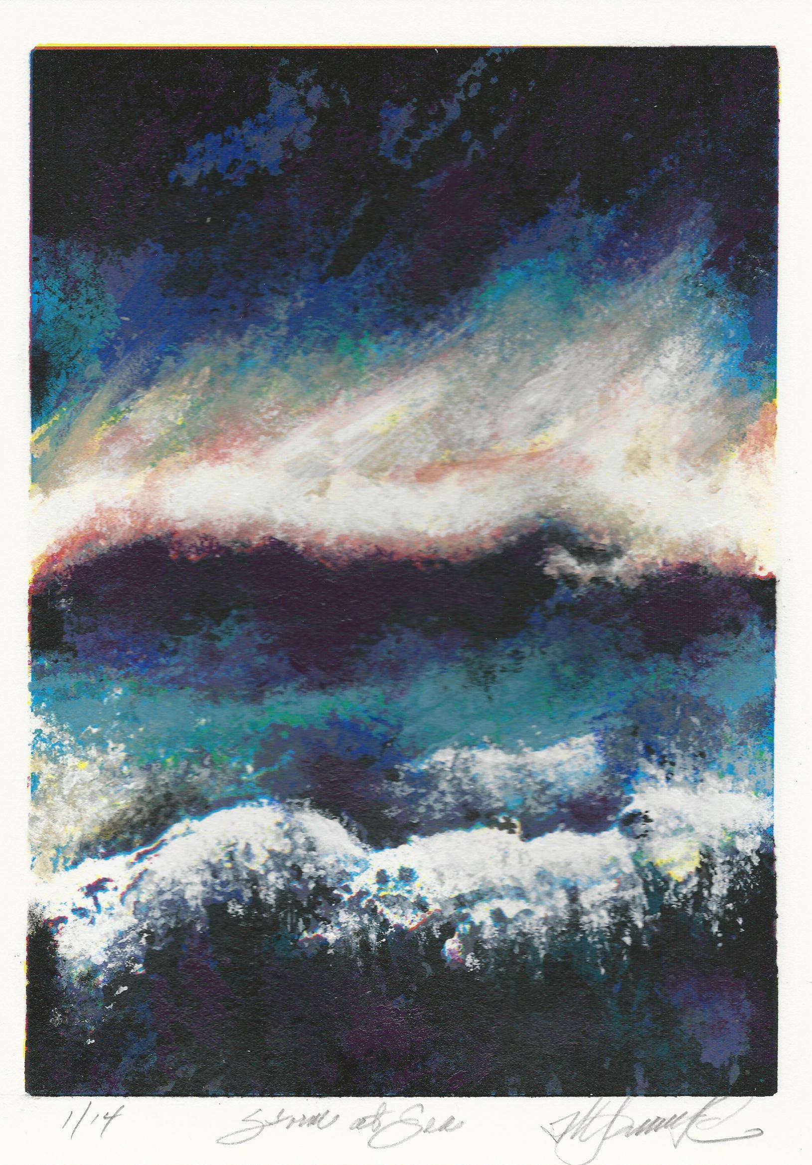 Al Lochtefeld | STORM AT SEA | screenprint | 10.5x7.5 | 2016