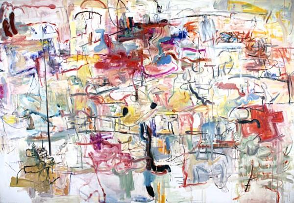 """Alan Crockett   TOWARD THE WRONG NOTE AGAIN   oil on canvas   66 x 96""""   2012"""