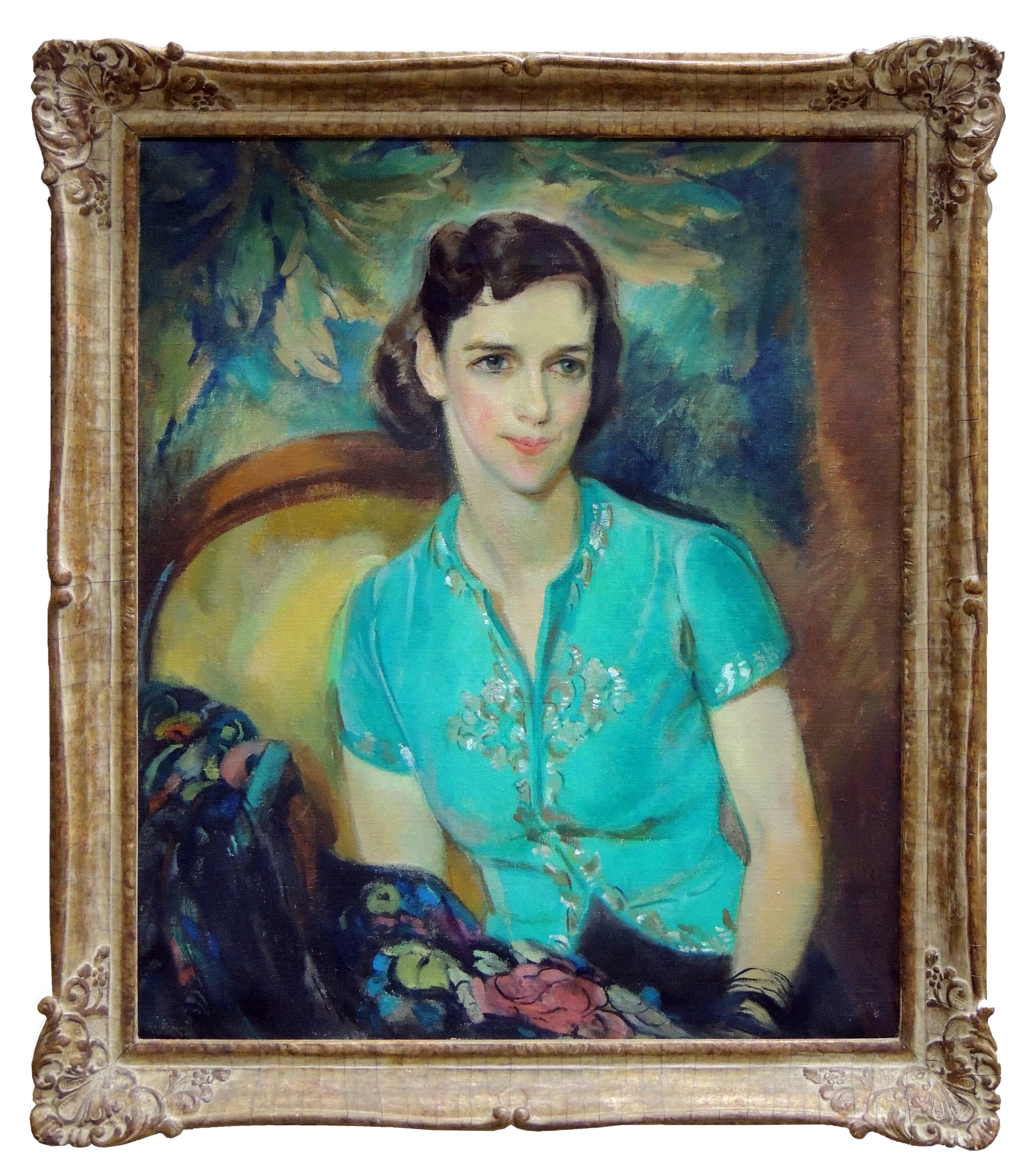 Alice Schille | PORTRAIT OF GERTRUDE MCPHERSON MOUAT | oil on canvas | 36 x 29"
