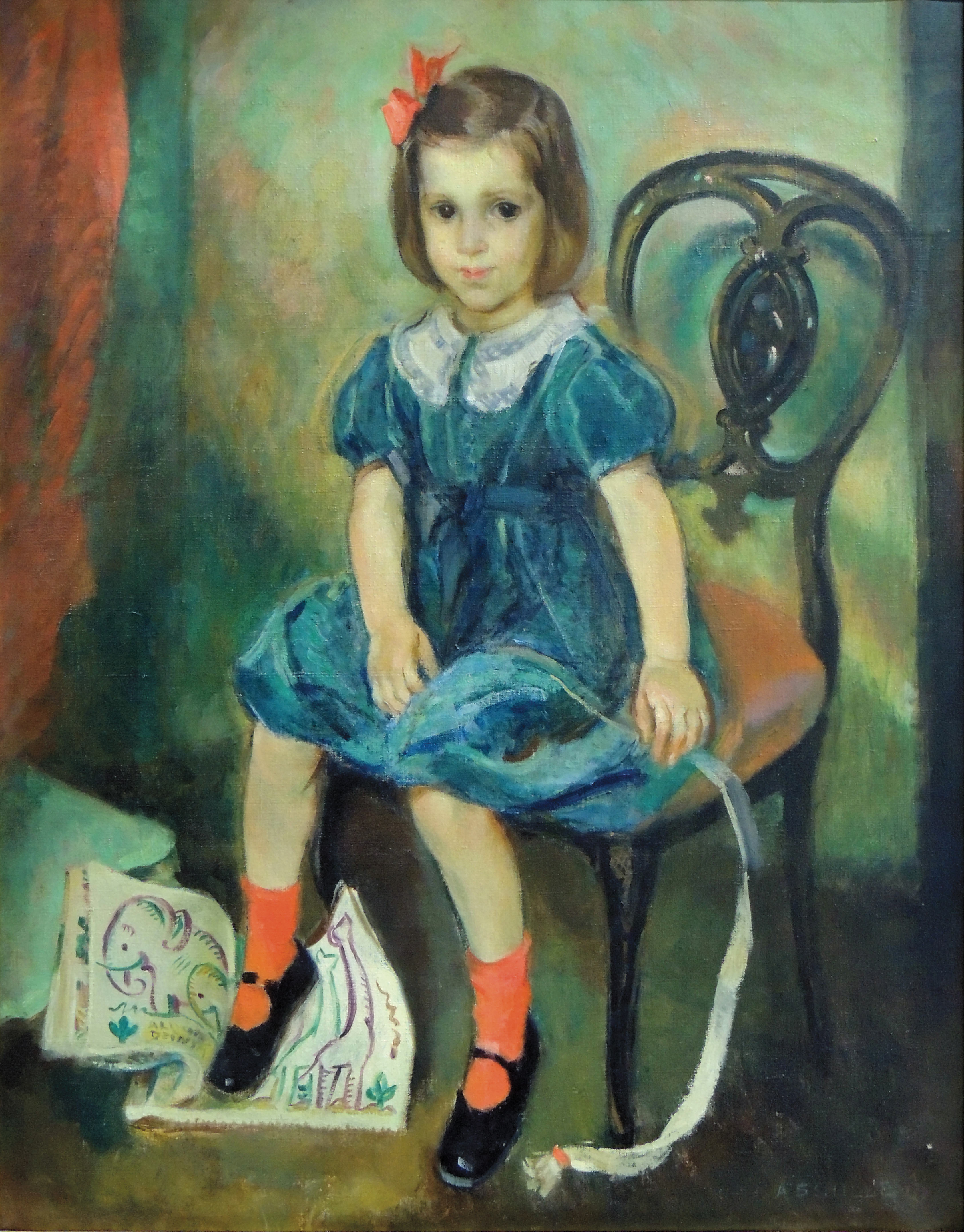 Alice Schille | PORTRAIT OF LUCIA MOUAT | oil on canvas | 37 x 46"