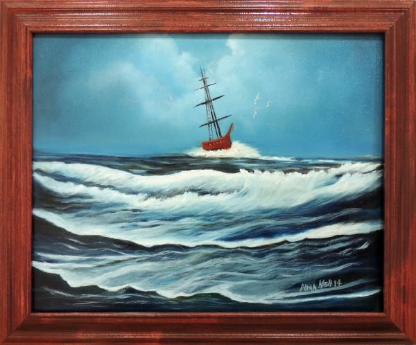 Alma Nash | CAUGHT IN A STORM | oil