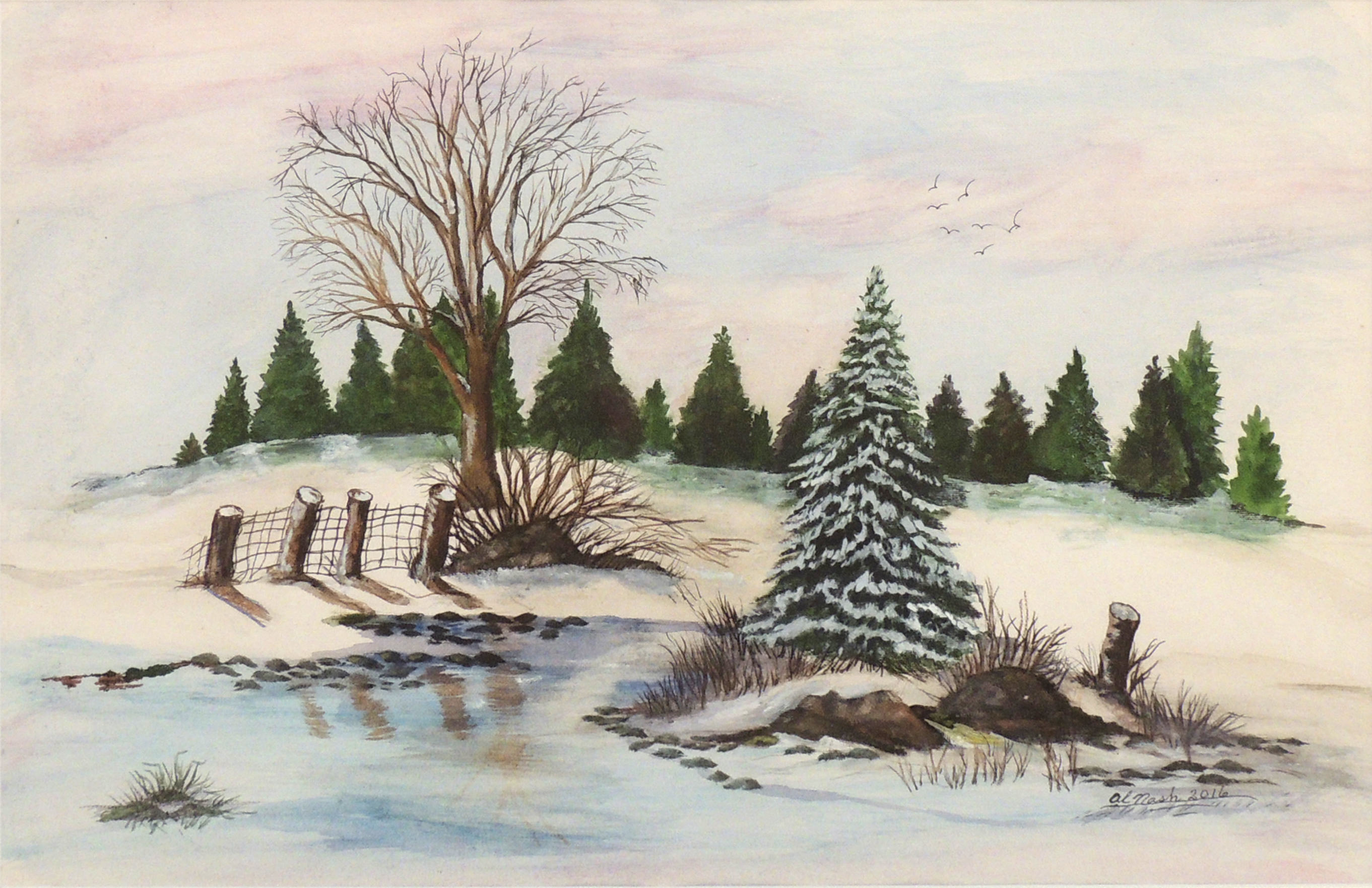 Alma Nash | WINTER OF TRANQUILLITY | Watercolor