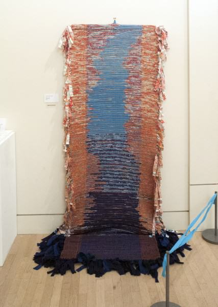 Alyson Annette Eshelman | RIVER OF LIFE | rag weaving | 99 x 41"