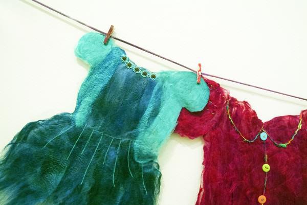 Alyson Annette Eshelman | SILK PAPER DRESSES (detail) | silk paper | 2011