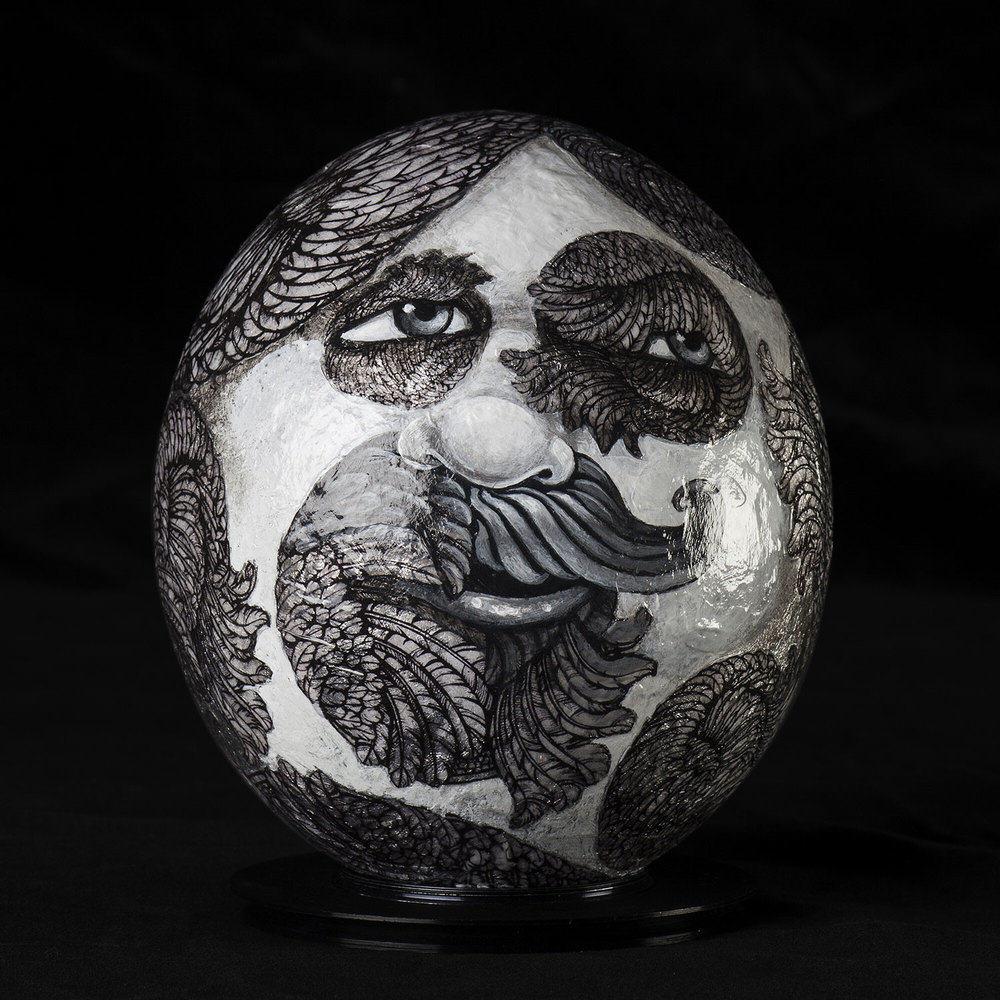 Amy Kollar Anderson | MARKO POLLO | acrylic paint, silver foil, glitter
