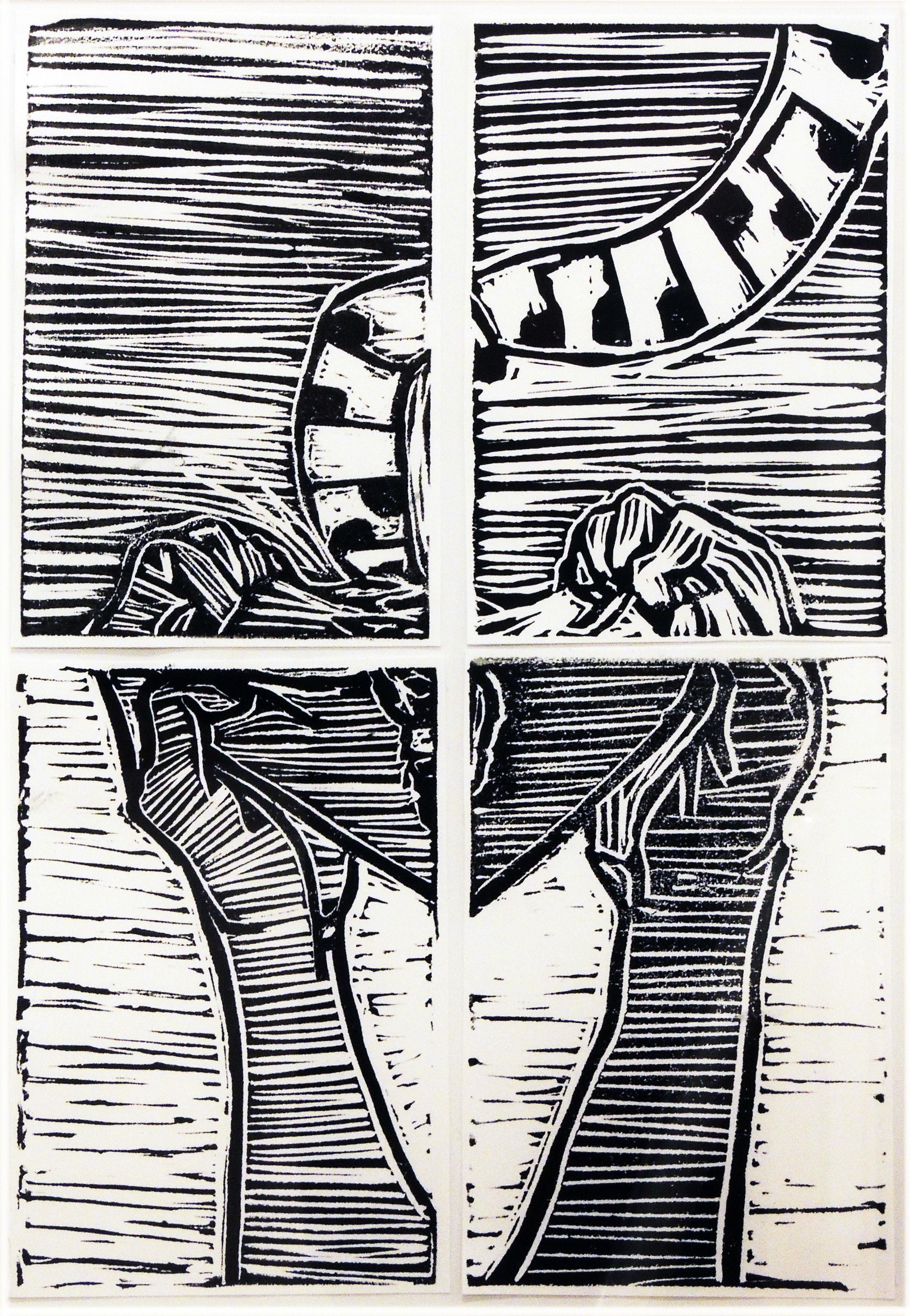 Anna Carney | BROKEN | relief print