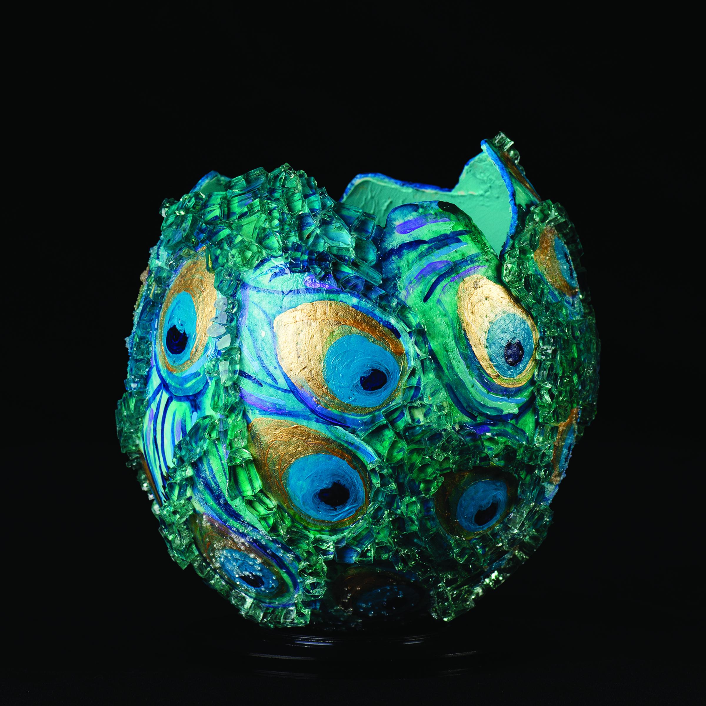 April Sunami I UN-WHOLE VISION I oil paint, acrylic, glass