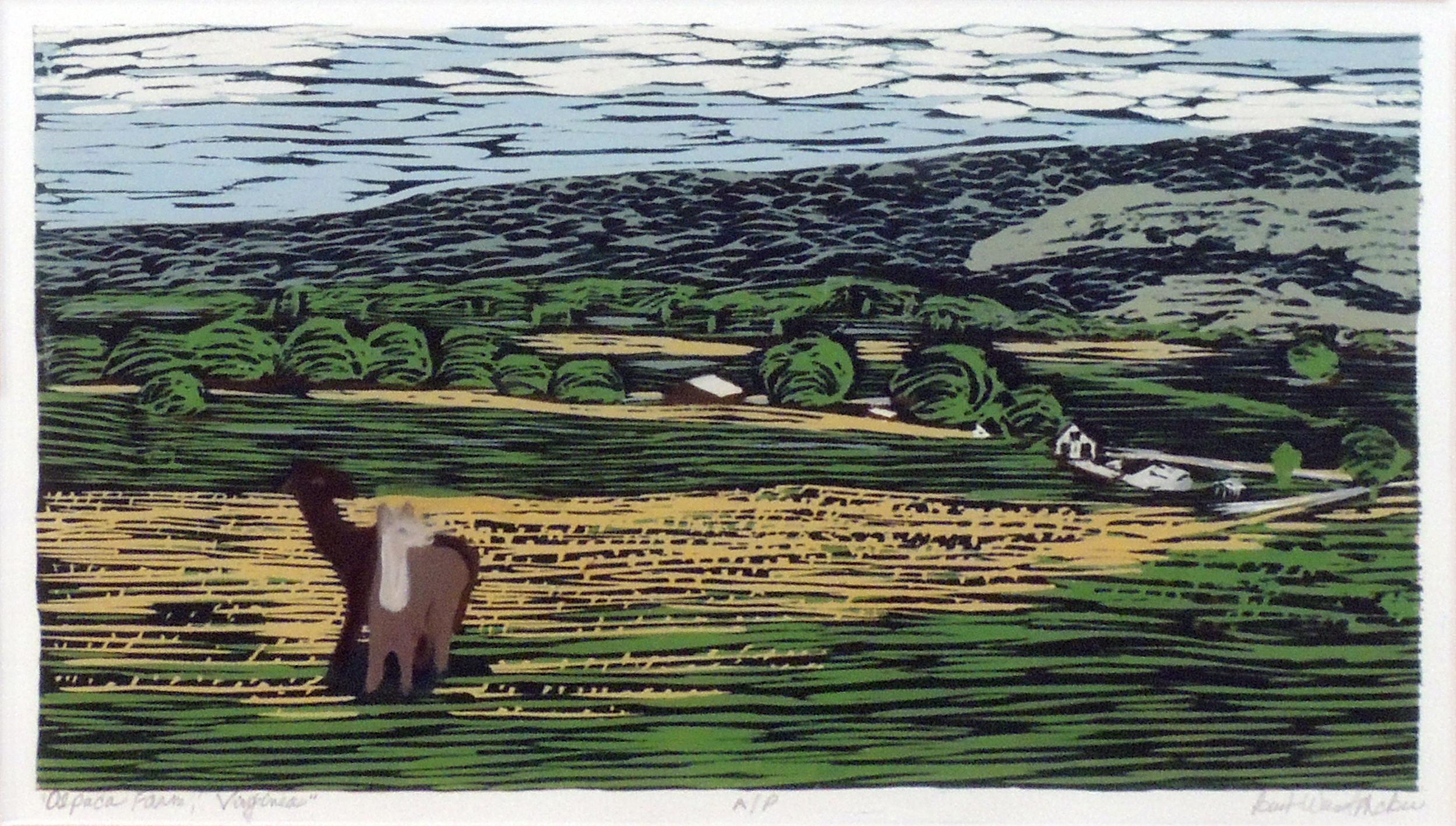 Barb Weinert-McBee | ALPACA FARM, VIRGINIA | Wood relief