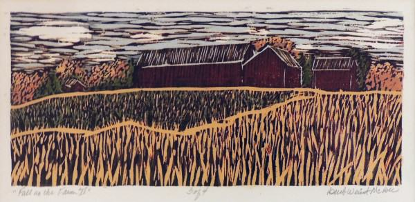 Barb Weinert-McBee | FALL ON THE FARM II | wood relief