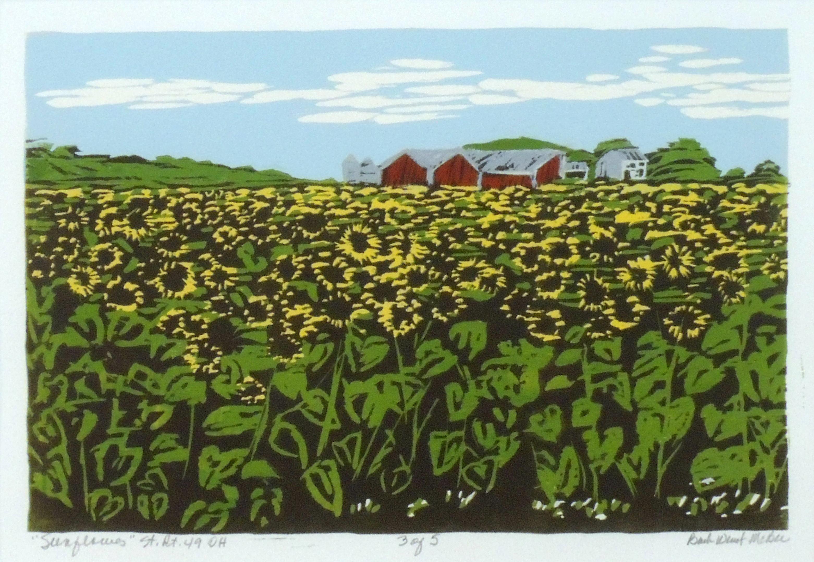 Barb Weinert-McBee | SUNFLOWERS ST 49, OHIO | Wood relief