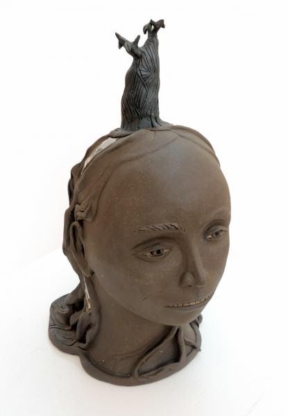 Beth Holyoke | LITTLE TREE LADY | dark brown clay