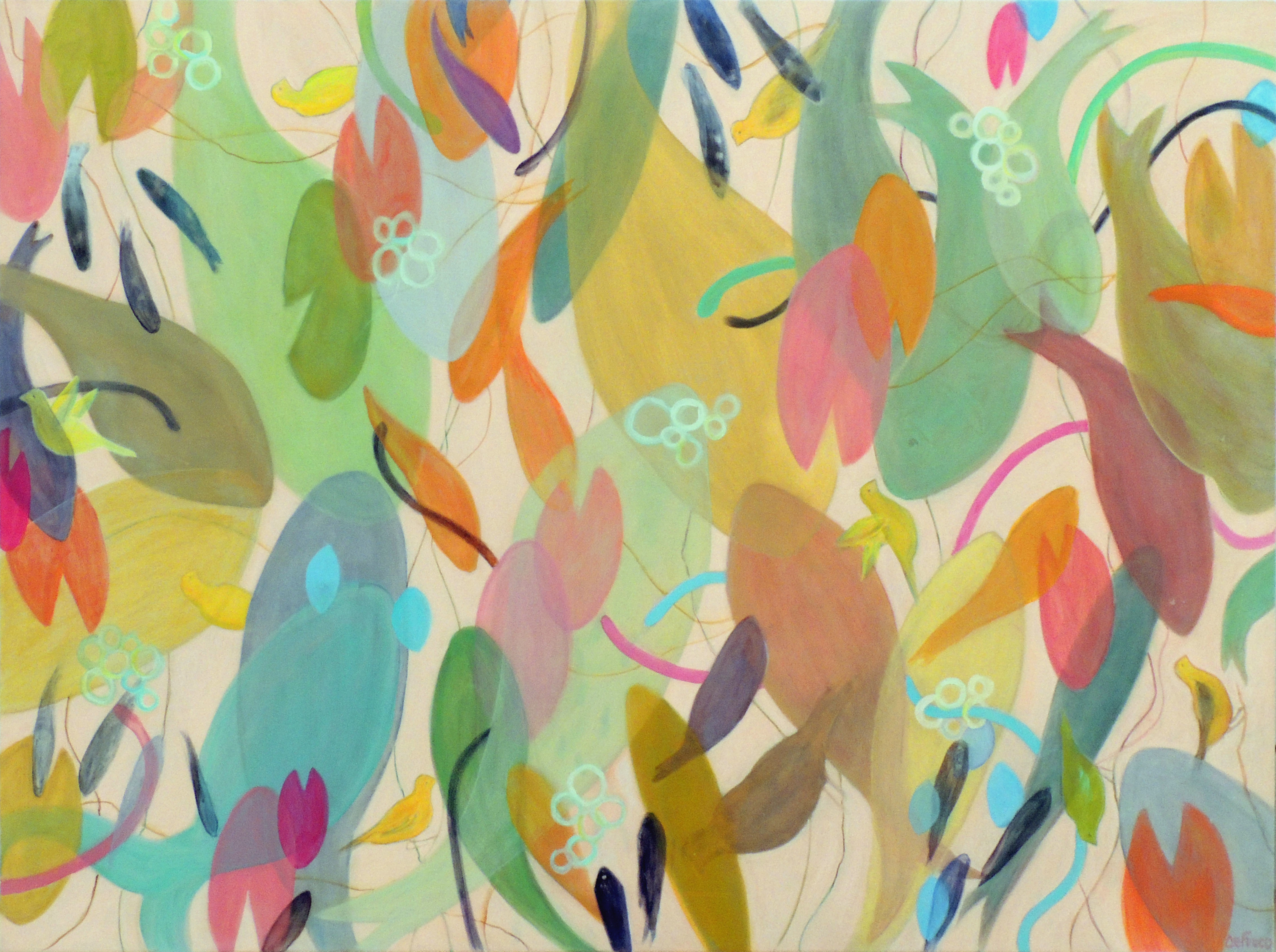 Betsy DeFusco | PINK POND | Oil on canvas