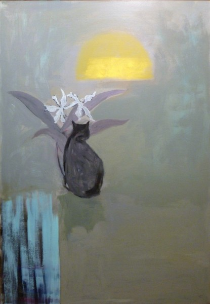 "Larry Shineman | BIANCA AND GHOST ORCHID | 60"" x 40"" 