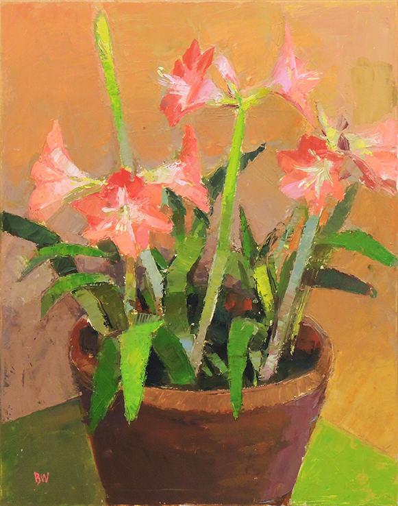 "Bill White | AMARYLLIS | Oil on linen | 28 x 22"" | 2016"