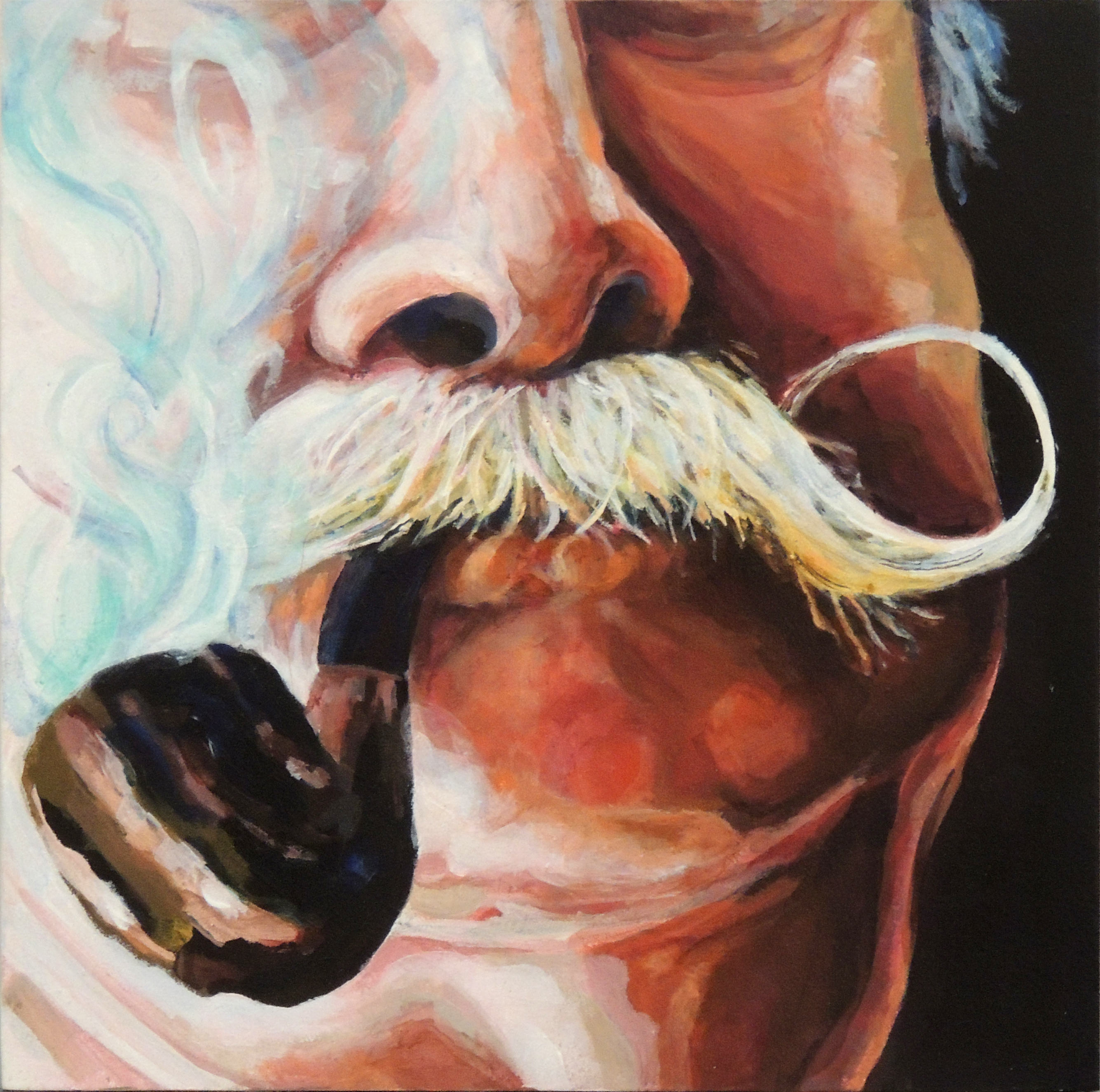 Birdie Abele | DADDY WITH PIPE | Acrylic