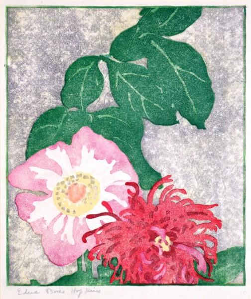 Edna Boies Hopkins | BLOSSOMS | woodblock print