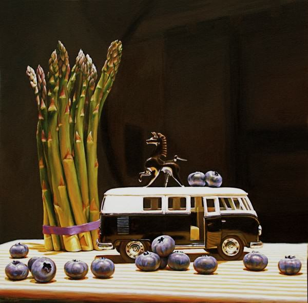 Jason Morgan | BLUEBERRIES FOR BLACK | 36 x 36"