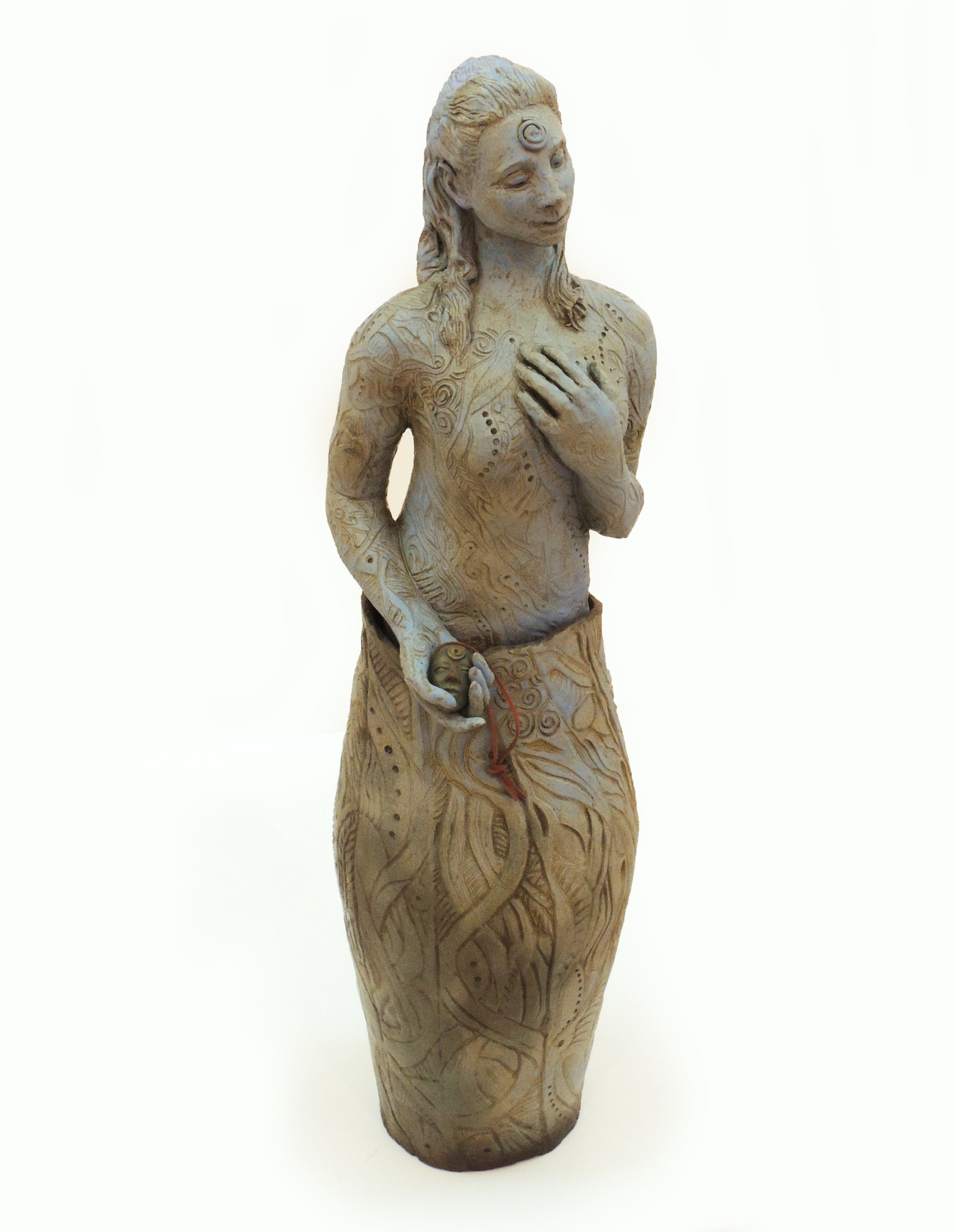 Bob Coates | CELTIC GODDESS | Ceramic, Bronze