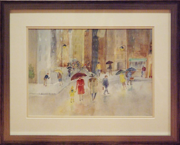Bonnie Rashilla | CITY RAIN | transparent watercolor | 2012