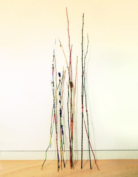 C. Bayraktaroglu & N. Mellon JafaGirls | FLIGHTS OF FANCY | sticks, acrylic paint, beads, wire, cloth