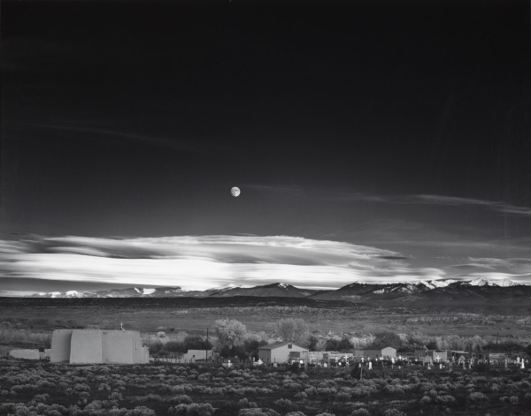 Ansel Adams | MOONRISE, HERNANDEZ, NEW MEXICO | 1941 | ©The Ansel Adams Publishing Rights Trust