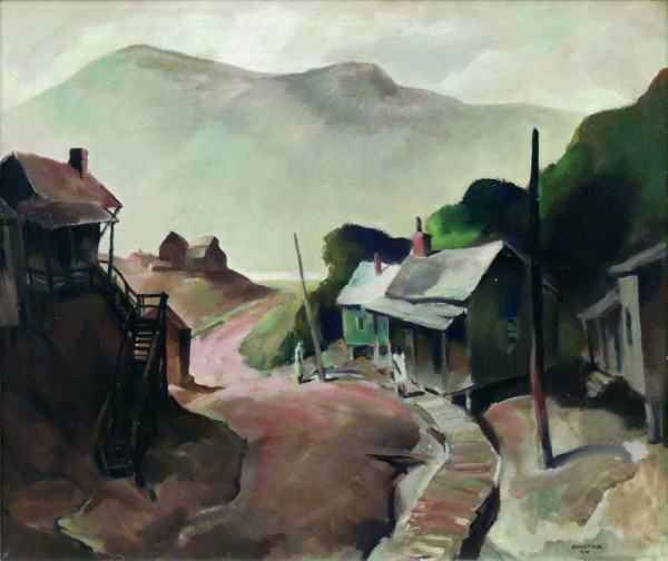 Carl Gaertner | EDGE OF RONCEVERTE, WEST VIRGINIA | 1935 | oil on canvas | 35 x 41-1/4"
