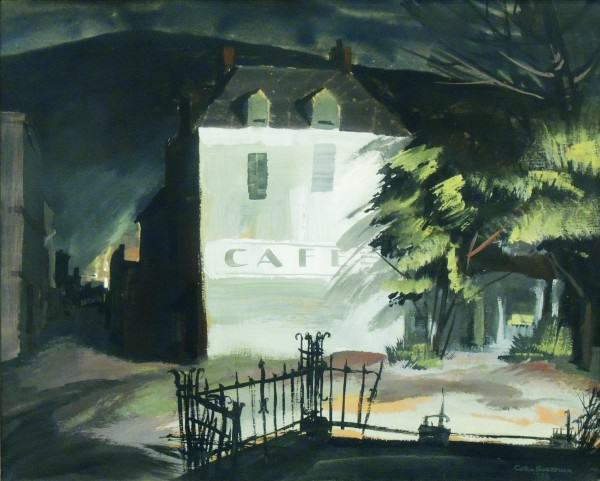 Carl Gaertner | CAFE | 1938 | watercolor and gouache | 18 x 22"