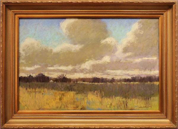 Carol Strockwasson | CLOUDS OVER A PRAIRIE | soft pastel | 24 x 36""