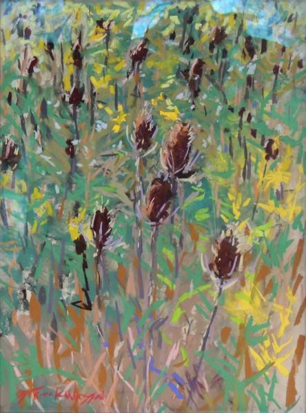 """Carol Strockwasson   FALL PRAIRIE SKETCH   soft pastel   12 x 16"""""""
