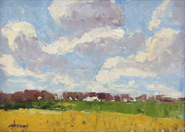 Honorable Mention | Carol Strockwasson | STUDY CLOUDS OVER A PRAIRIE | oil | 9 x 12""