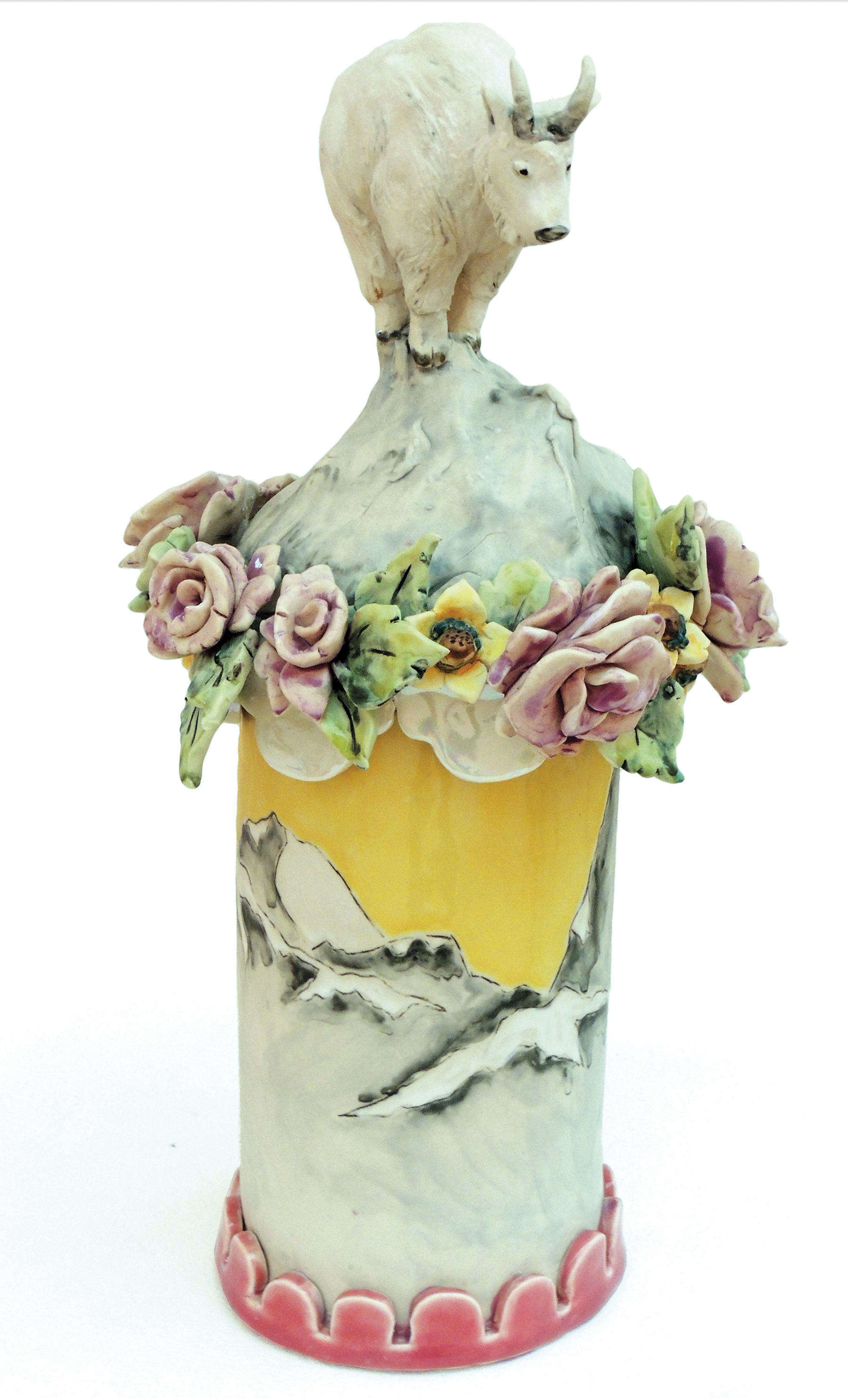 Carolyn Baginski | NOWHERE TO GO | glazed porcelain |  Honorable Mention