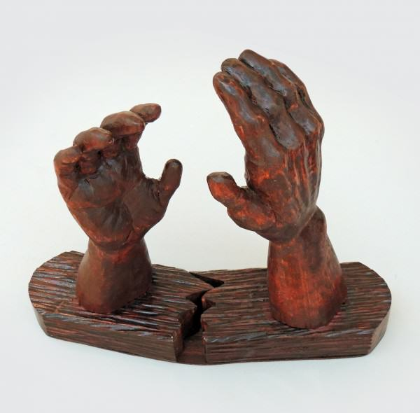 First Place Amateur Clay/Sculpture Catherine Kramer | IF HANDS THAT REACH COULD TOUCH