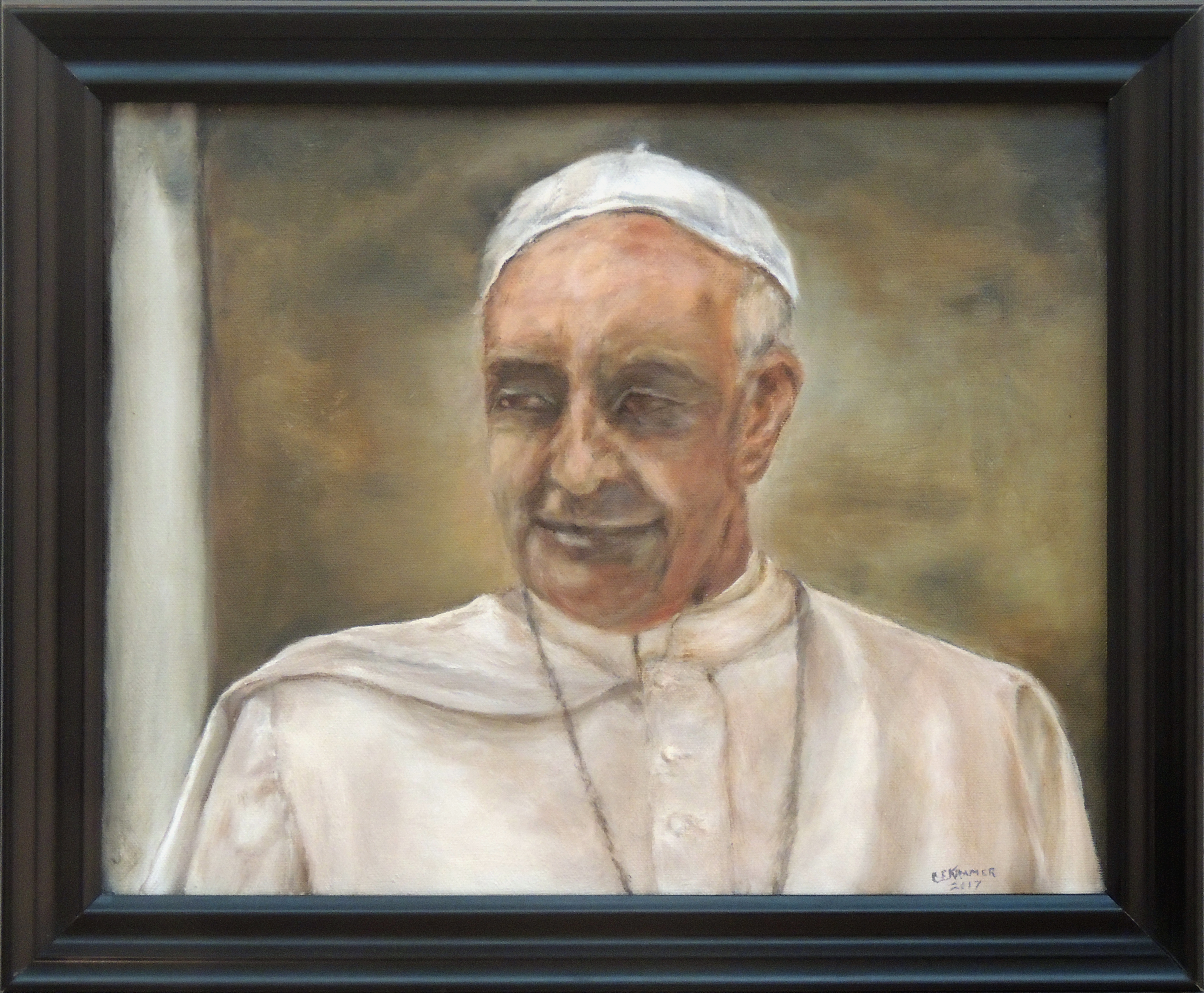 Catherine Kramer | POPE FRANCIS…JUST LOOKING | Oil