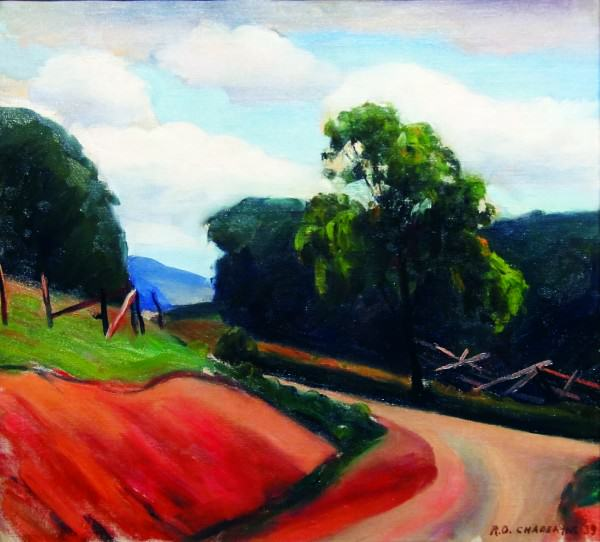 Robert Chadeayne | COUNTRY ROAD | 1939 | oil on canvas | 18 x 20"