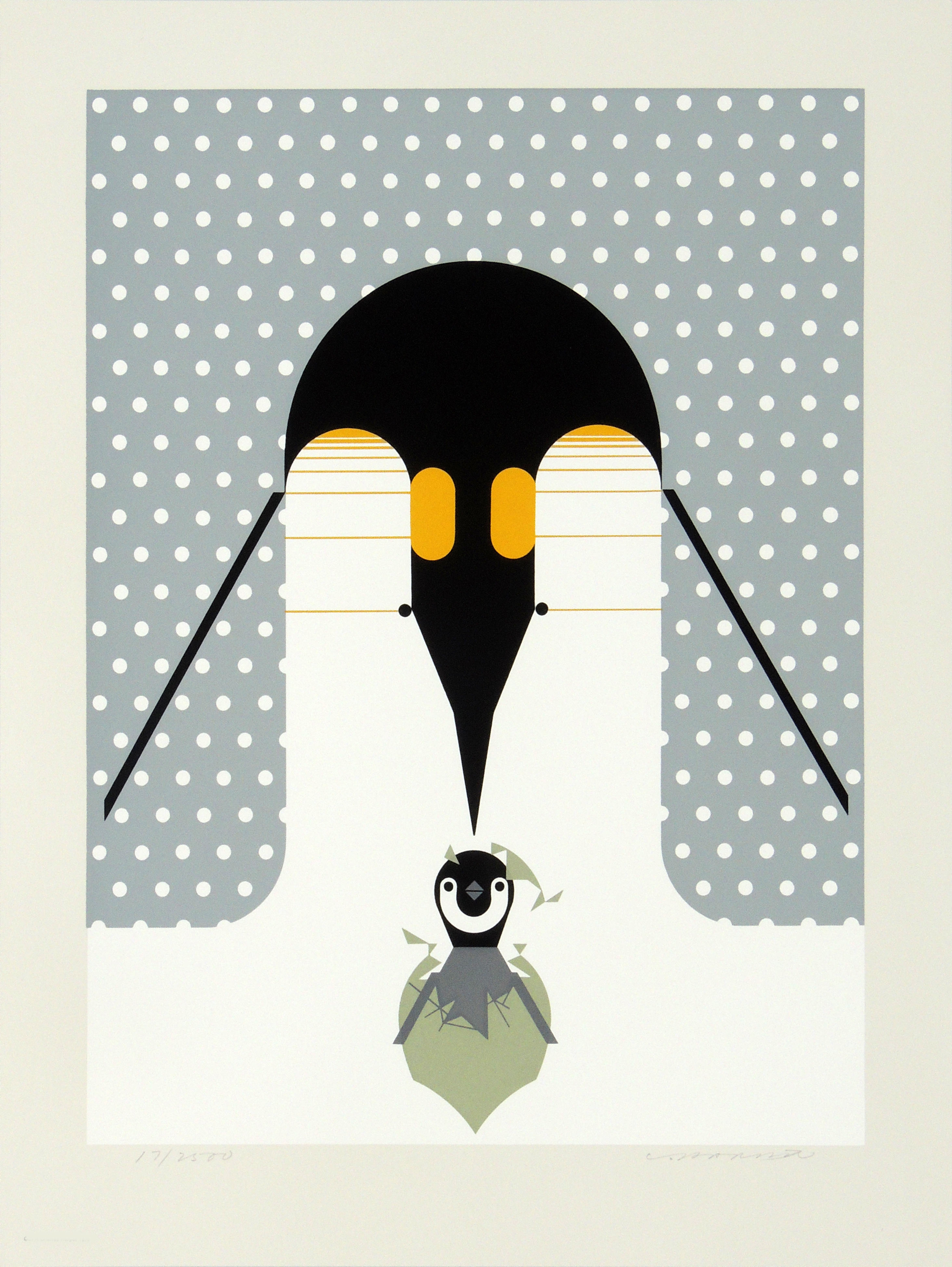 Charley Harper | BRRTHDAY | serigraph on paper | 17 x 13-1/2