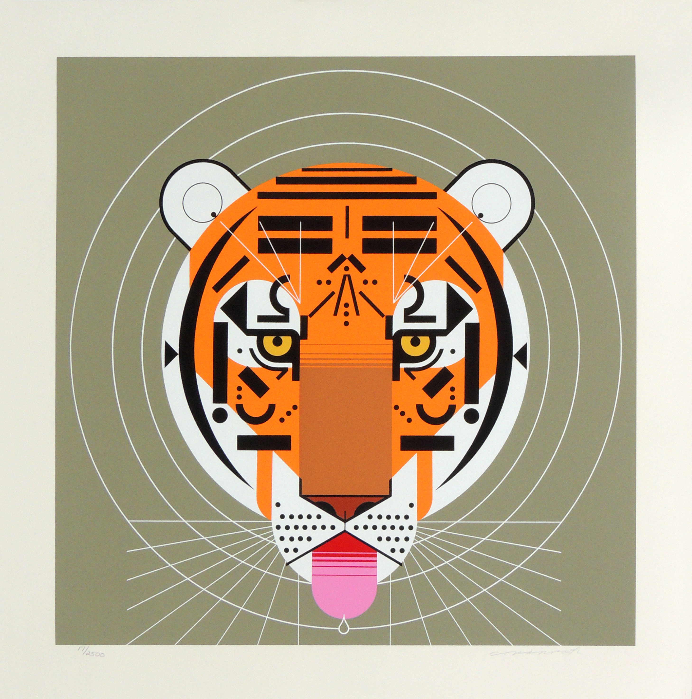 Charley Harper | COOL CARNIVORE | serigraph on paper | 24 x 24