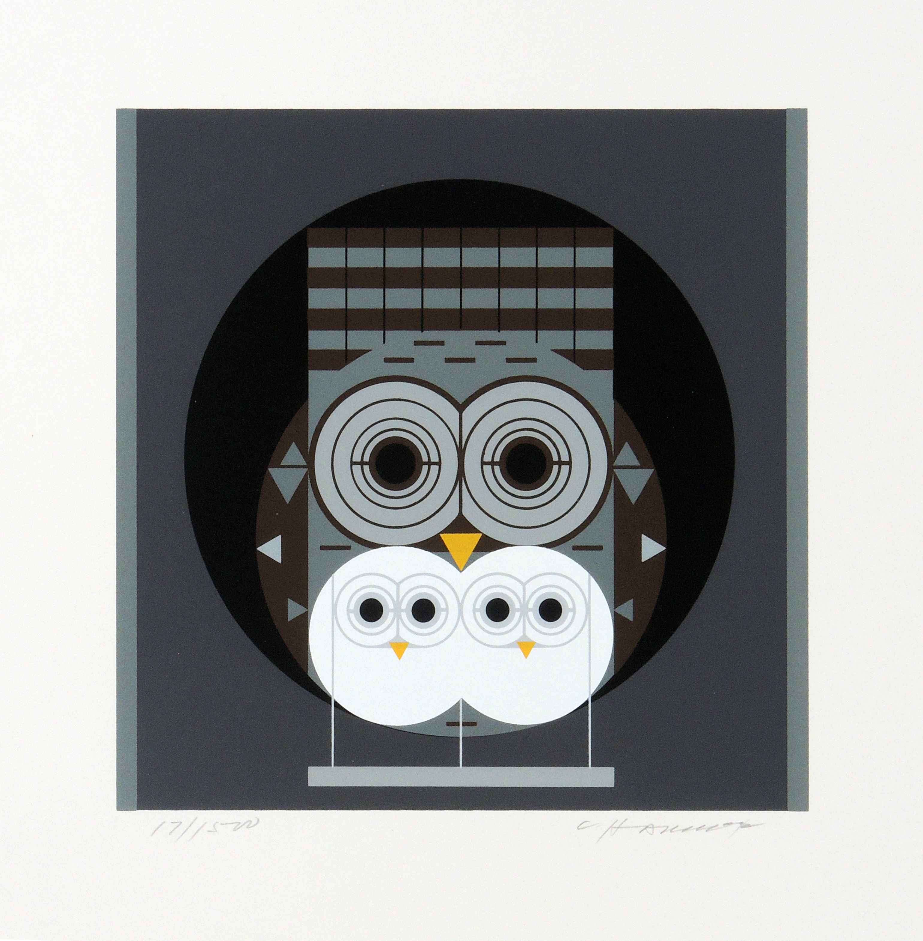 Charley Harper | FAMILY OWLBUM | serigraph on paper | 8-1/4 x 8-1/2