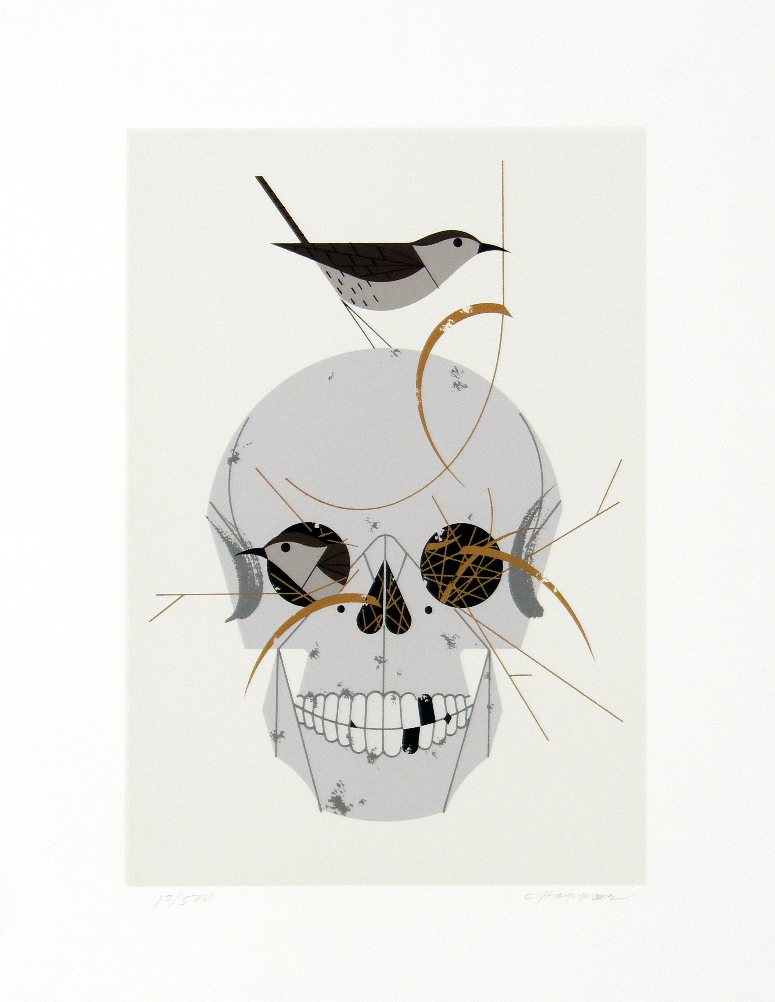 Charley Harper | HOUSE WREN | serigraph on paper | 12-1/2 x 9