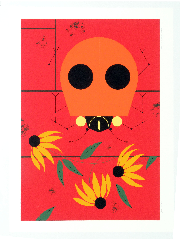 Charley Harper | LADYBUG | serigraph on paper | 18-1/2 x 13