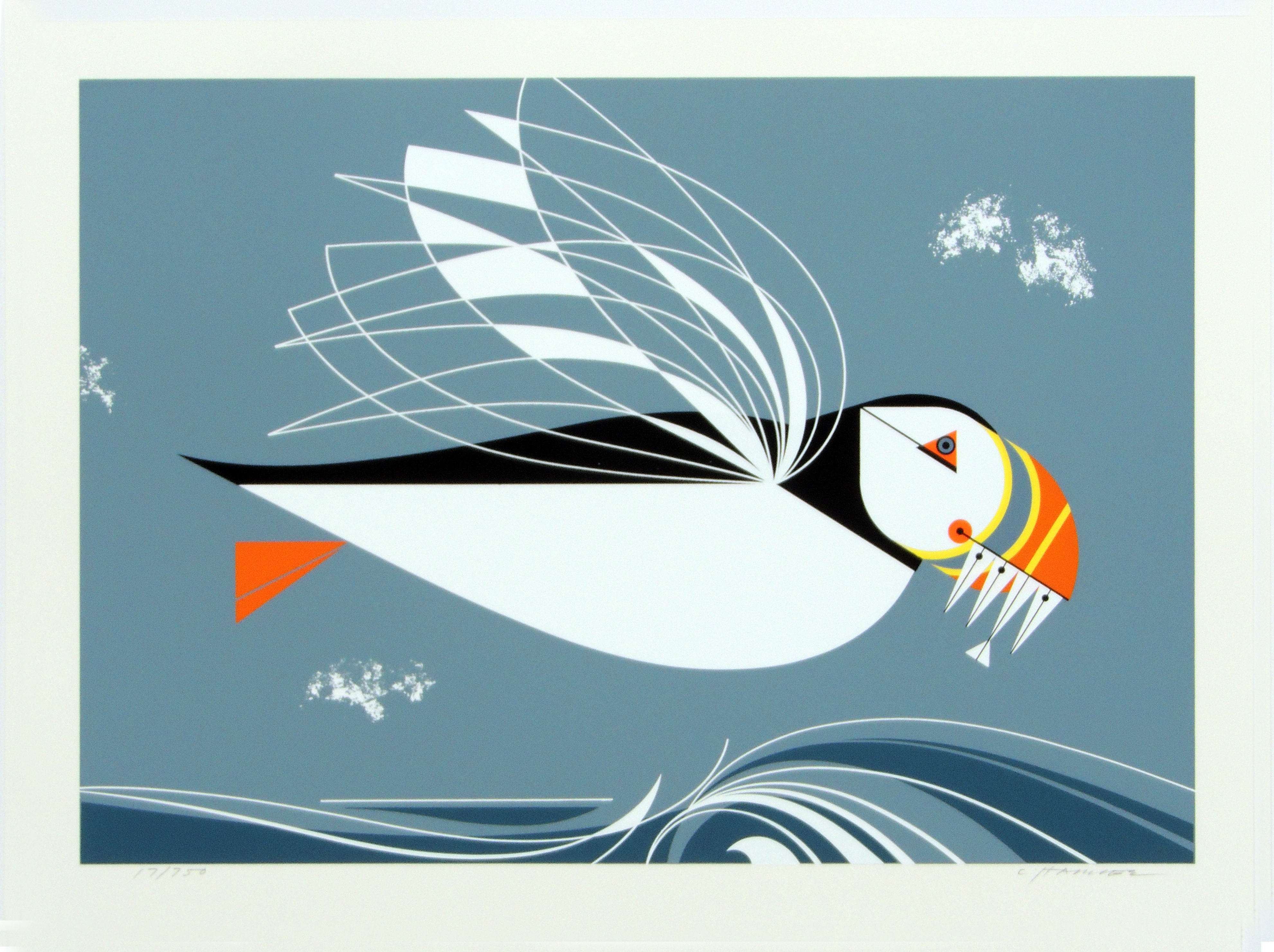 Charley Harper | PUFFIN | serigraph on paper | 13 x 10