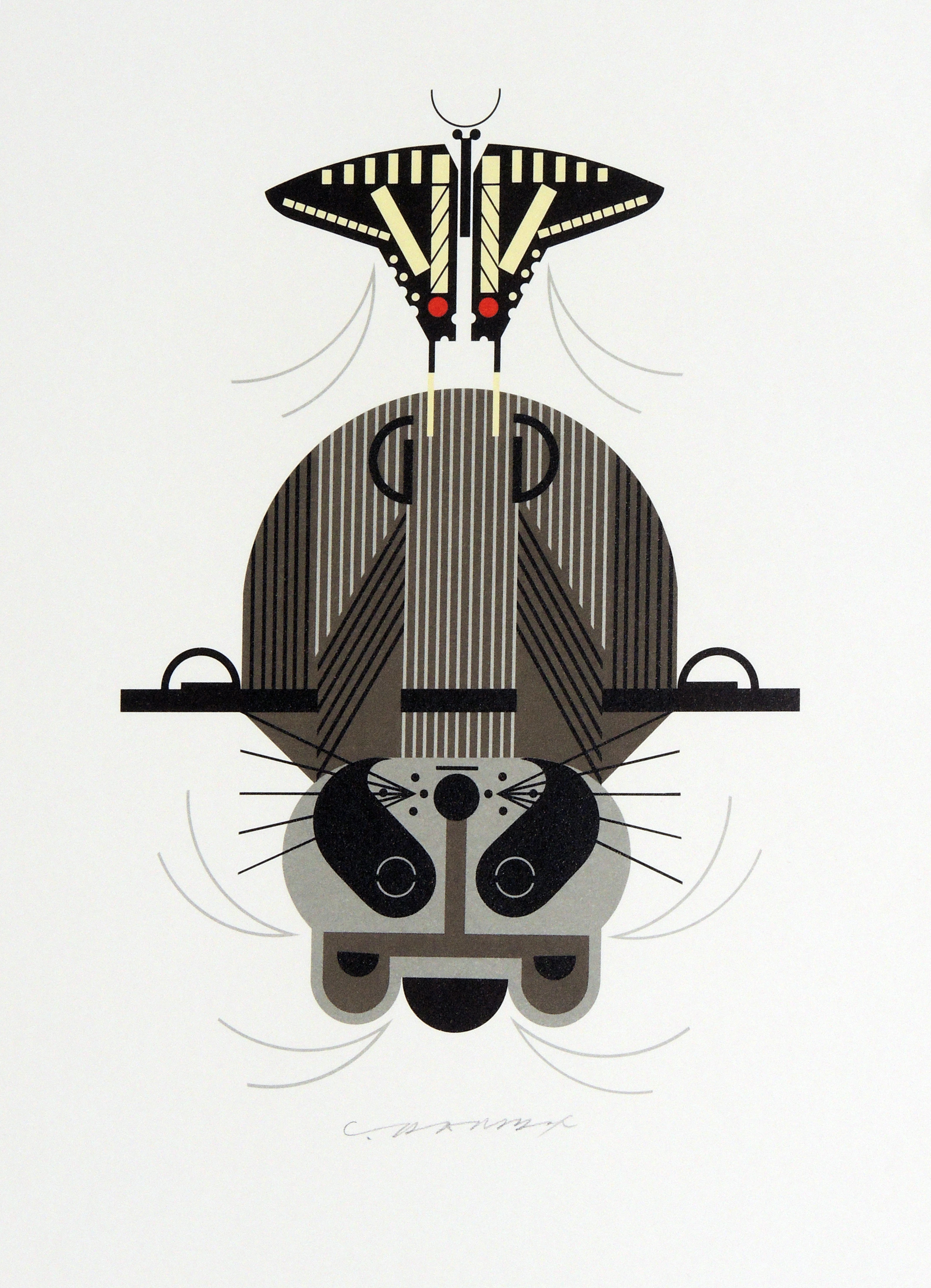 Charley Harper | RACCROBAT | serigraph on paper | 11-1/2 x 8