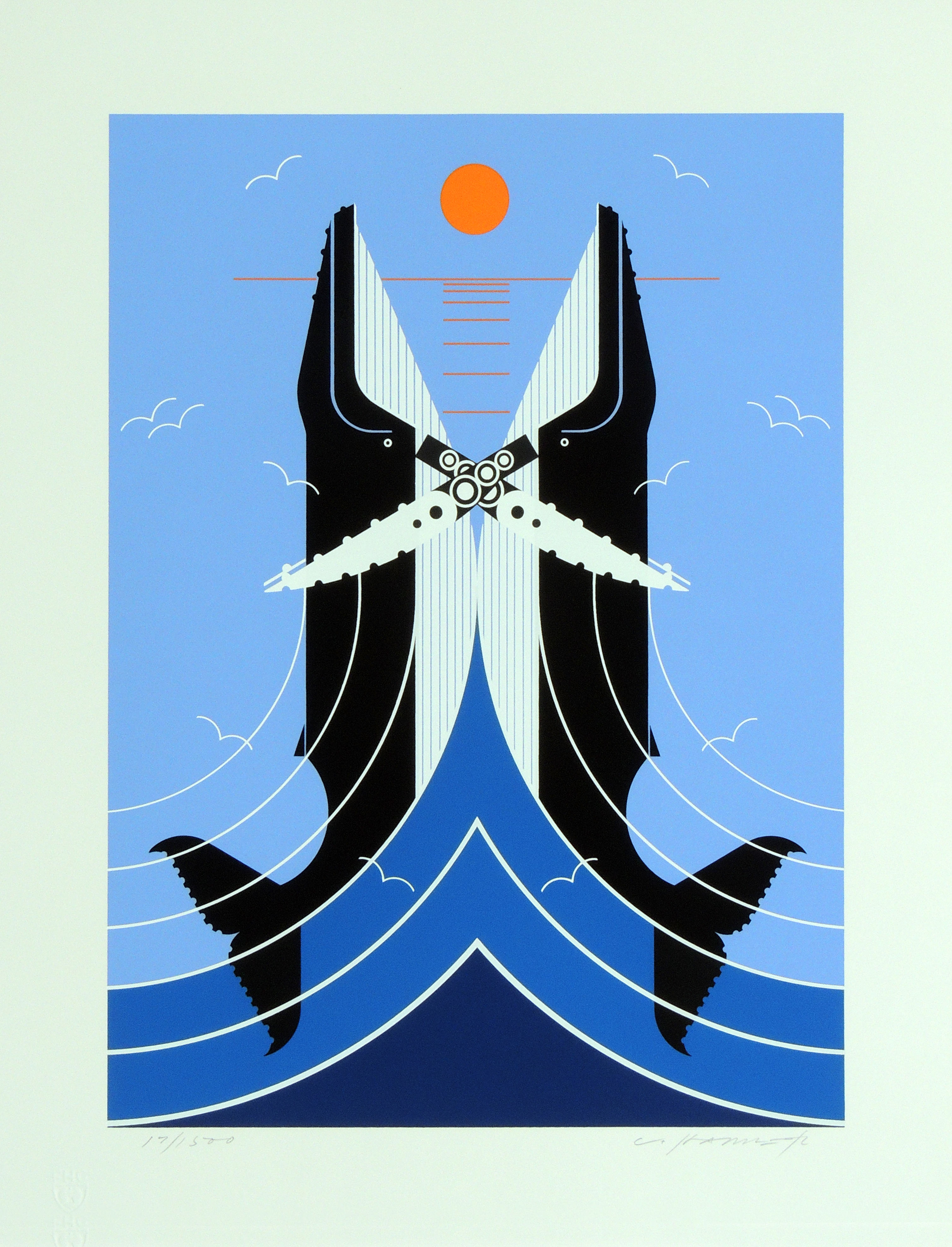 Charley Harper | RICHTER SCALE | serigraph on paper | 16 x 12