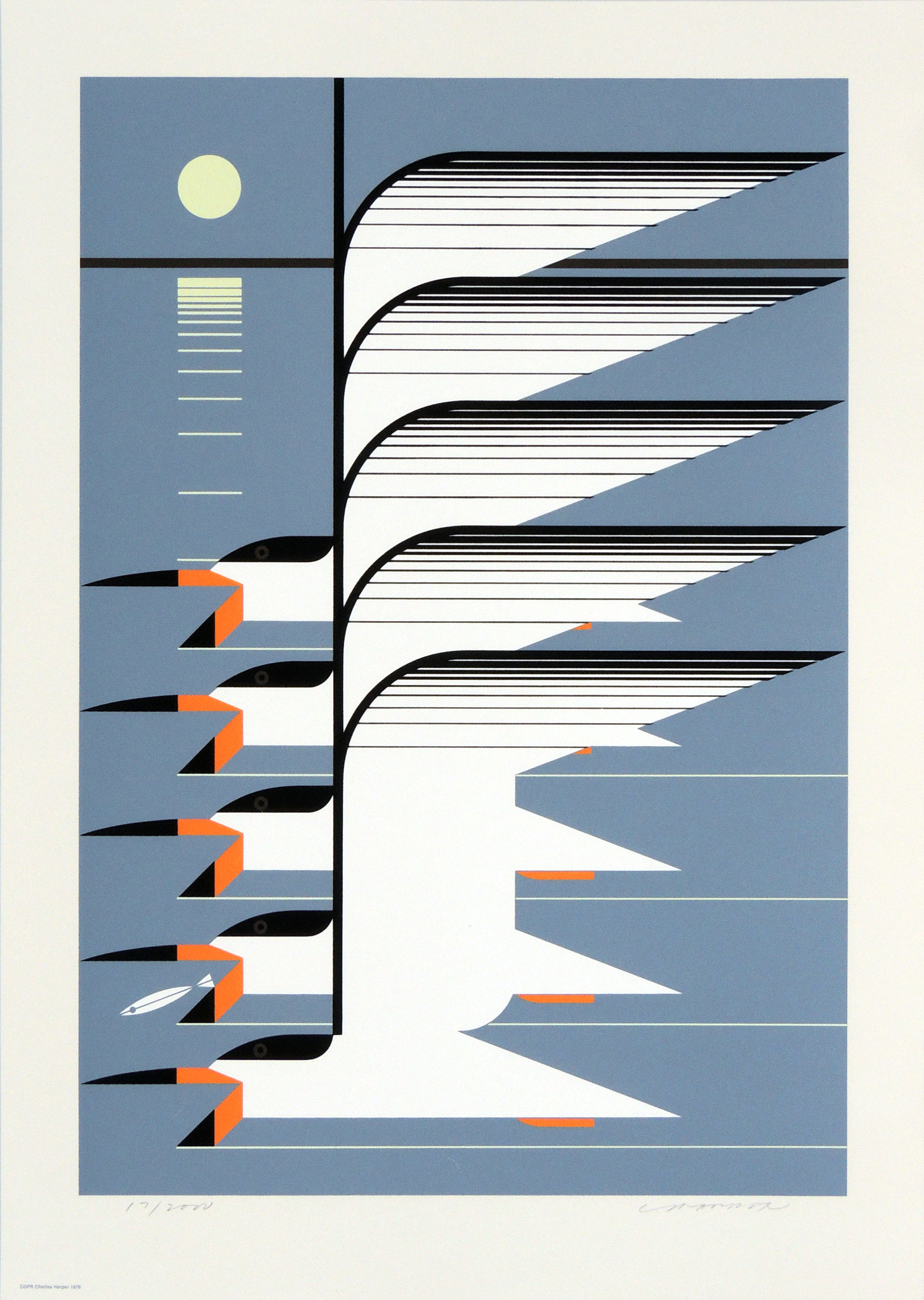 Charley Harper | SKIMMERSCAPE | serigraph on paper | 20-7/8 x 14-1/2"