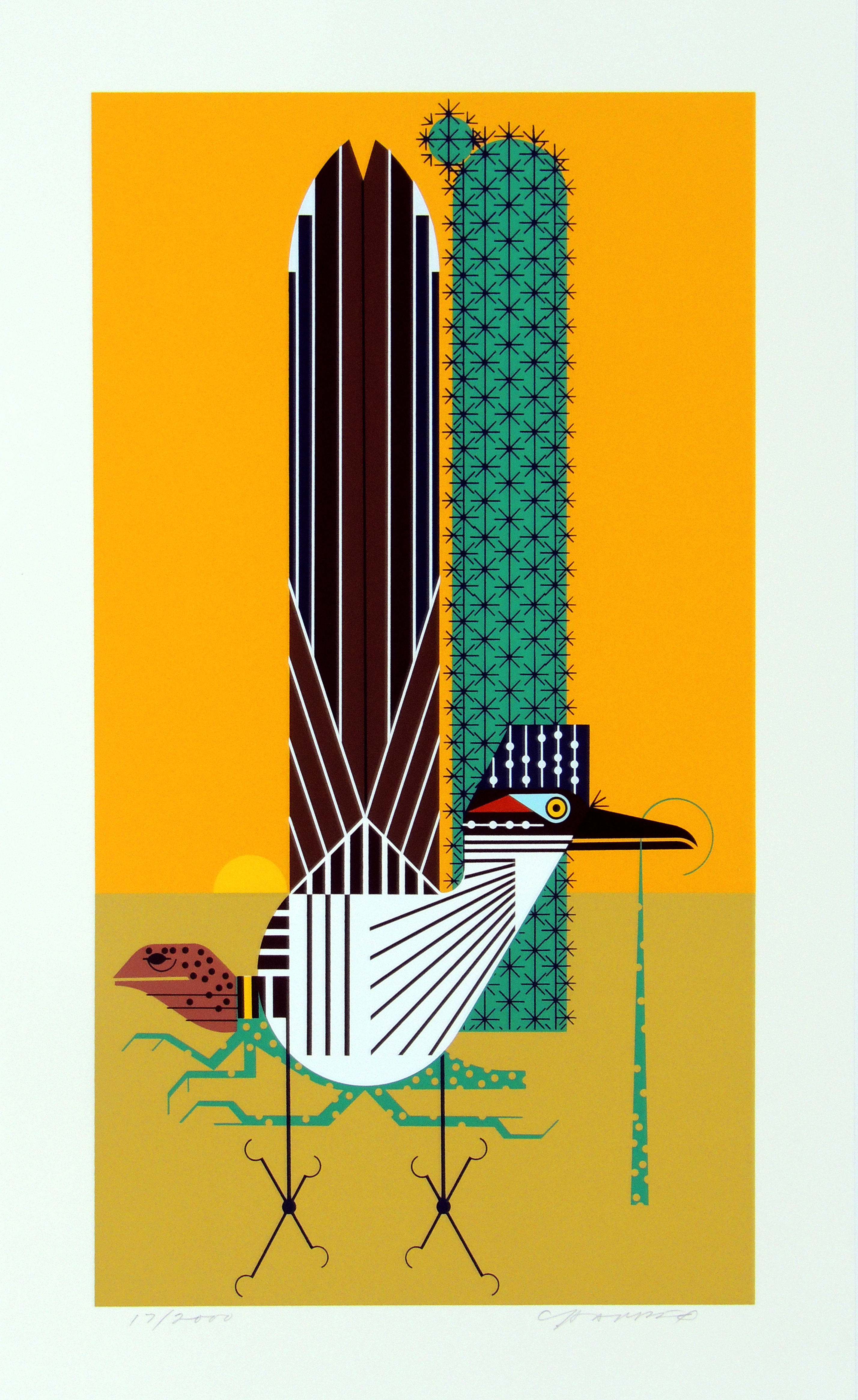 Charley Harper | TALL TAIL | serigraph on paper | 17-1/2 x 9-3/4