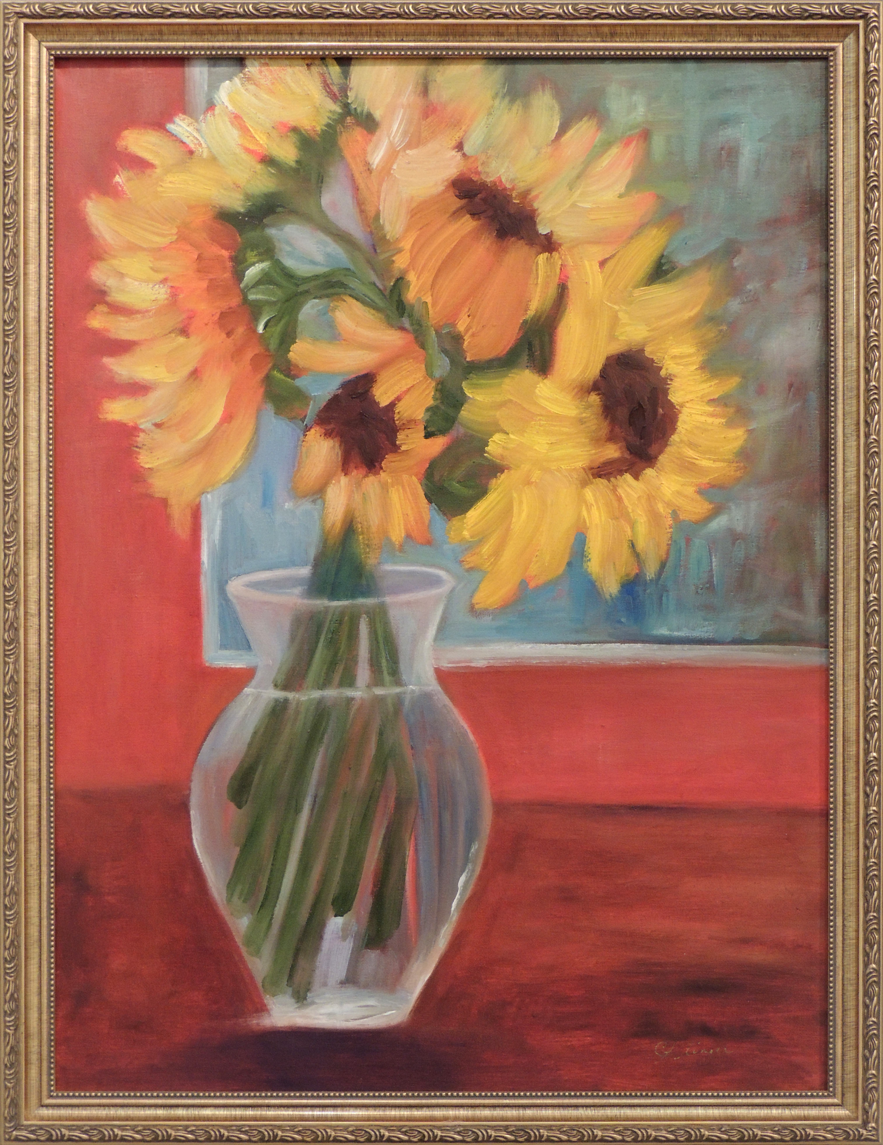 Christine Klinger | SUNFLOWER BOUQUET | Oil