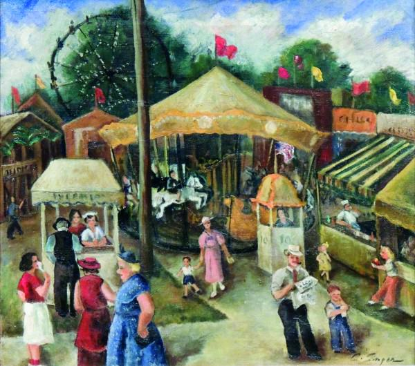 Clyde Singer | OHIO STATE FAIR | n.d. | oil painting | 17-1/2 x19-1/2"