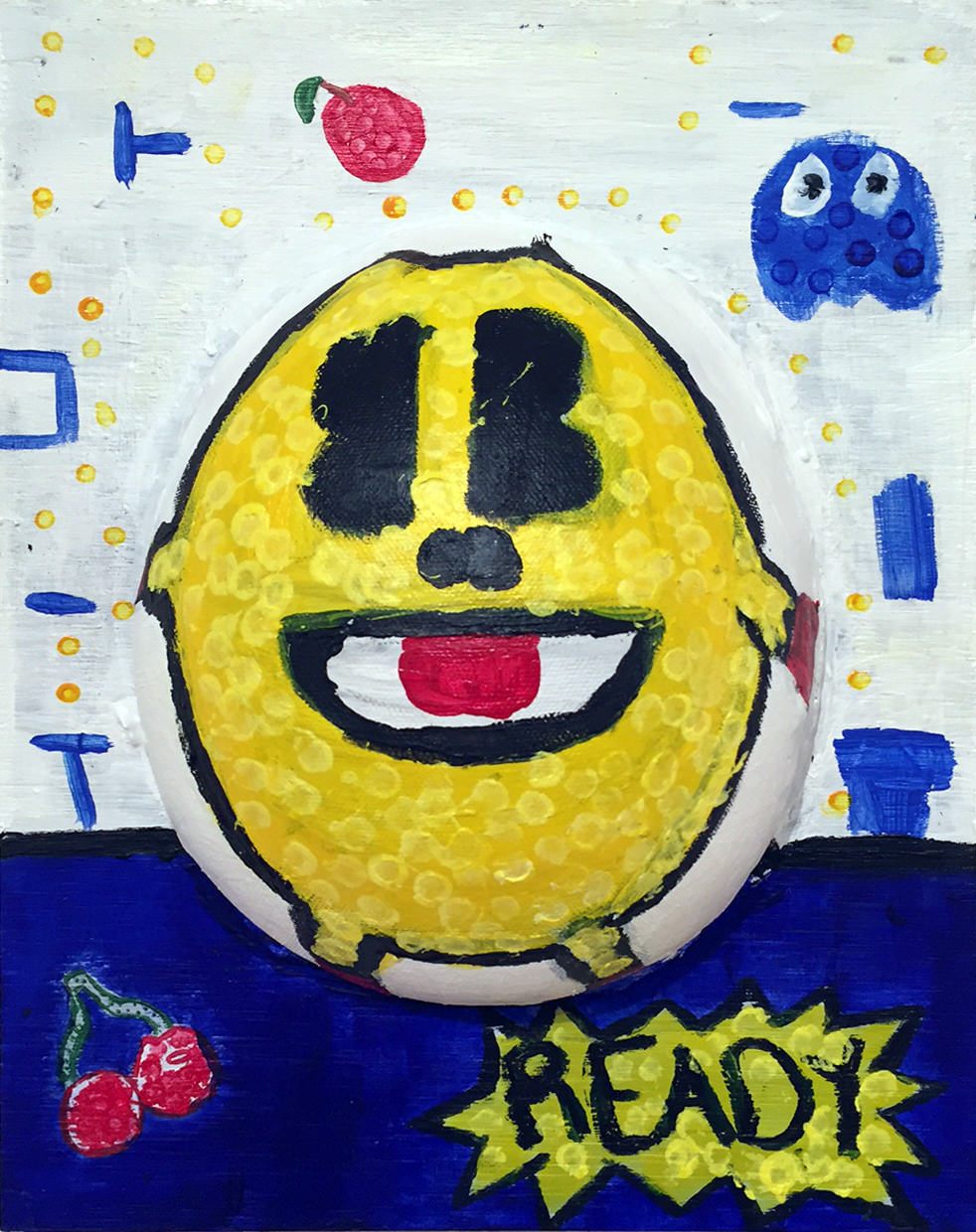 D'Ante Fultz | RETRO EGG | mixed media